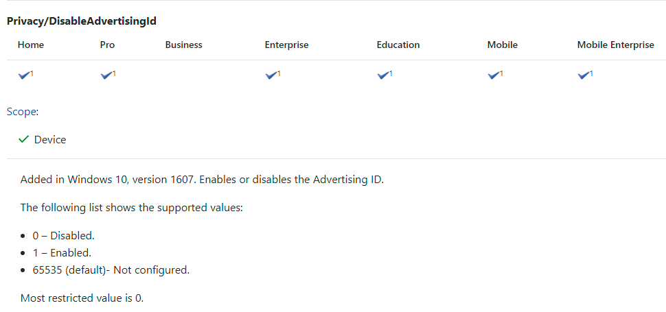 Control Windows 10 privacy settings with Intune [UPDATED